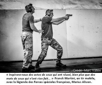 """Franck Martini en compagnie de Marius, la légende des Forces spéciales. """"Inspirons-nous des autres, ceux qui ont réussi, quand nous sommes sur le terrain"""""""